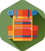 Travel backpack, orange vector