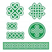 pic of celtic  - Set old traditional Celtic symbols - JPG