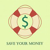 Safety ring with dollar there. Save your money