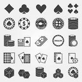 Poker icons set