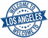 foto of blue angels  - welcome to Los Angeles blue round ribbon stamp - JPG