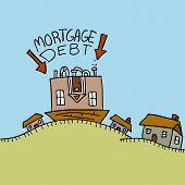 Cabeça para baixo de dívida hipotecária