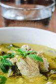 image of thai cuisine  - green curry with pork thai cuisine delicious food - JPG