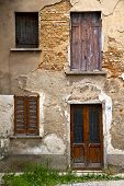 pic of windows doors  - brown europe italy lombardy in the milano old window closed brick abstract door terrace - JPG
