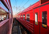 stock photo of railroad car  - Railroad cars - JPG