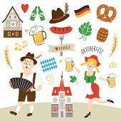 picture of lederhosen  - Germany elements collection illustration - JPG