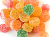 image of jelly babies sugar  - fruit candy in sugar multi - JPG
