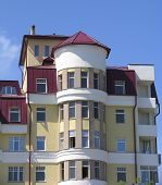 stock photo of ekaterinburg  - the modern  apartment building - JPG
