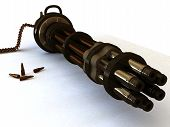 Machine gun large-caliber