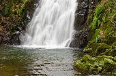 Close up of Glenoe Waterfall
