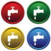 Plastic buttons with water tap