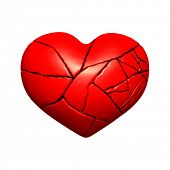 stock photo of broken hearted  - Broken heart - JPG