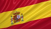 Flag of Spain. Flag series.