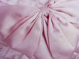 picture of rayon  - Sweet pink bow tie with rayon fabric - JPG