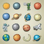 Freehands icons - planetarium