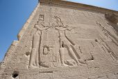 Hieroglypic Carvings On An Egyptian Temple