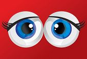 pic of hypertrophy  - hypertrophied huge balls bulging eyes on a red background - JPG