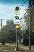 School Speed Limit 20 Flashing Sign