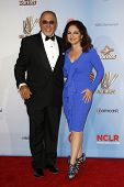 LOS ANGELES - SEP 10:  Emilio Estefan, Gloria Estefan arriving at the 2011 NCLR ALMA Awards held at