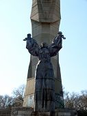 Monument of a Mother Bulgaria in skobelev Park. Pleven Bulgaria