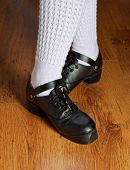 Feet In Irish Dancing Shoes