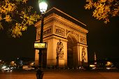 Arc De Triomphe In Paris, France