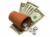 Gambling With Dice And Banknotes