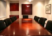 stock photo of convocation  - high quality picture of a corporate boardroom at a head office - JPG
