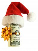 Money In A Christmas Hat