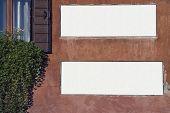 Venetian Street White Sign