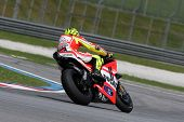 SEPANG, MALAYSIA - FEBRUARY 2: MotoGP rider Valentino Rossi of the Ducati Malboro Team practices at
