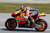 SEPANG, MALAYSIA - FEBRUARY 23: MotoGP rider Andrea Dovizioso of Repsol Honda Team practices at the