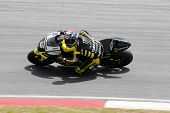 SEPANG, MALAYSIA - FEBRUARY 23: MotoGP rider Colin Edwards of Monster Yamaha Tech 3 team practices a