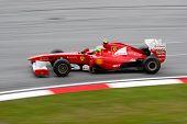 SEPANG, MALAYSIA - APRIL 8: Felipe Massa of the Scuderia Ferrari Team takes to the tracks on practice day of the Petronas Malaysian F1 Grand Prix on April 8, 2011 in Sepang, Malaysia.
