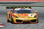 SEPANG - JUNE 17: Siu Yuk Lung (8) in a Lamborghini takes to the tracks of the Sepang International