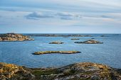 Sea Landscape Of A Rocky Coastline On The South Of Sweden. Southern Coastline Of Sweden With View At poster