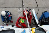 SEPANG - JUNE 19: LMP Motorsport team executes a drivers change during a pit-stop of the Japan SUPER