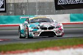 SEPANG - JUNE 18: The 'GSR&Studie with TeamUKYO' BMW Z4 car puts in some practice laps in the Sepang
