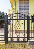 Wrought Iron Fence With Wrought Iron Gate poster