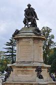 stock photo of william shakespeare  - Statue of William Shakespeare in Stratford - JPG