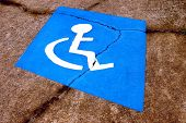 Distressed Handicapped Parking Symbol