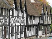 picture of west midlands  - Typical Tudor Street in Warwick - JPG