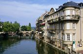 foto of moselle  - Moselle River at Metz town Lorraine France - JPG