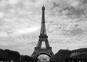 Black White Eifel Tower poster