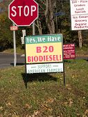 Biodiesel Sign