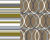 Retro Stripes And Circles Floral Background