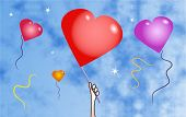 Balloon Hearts poster