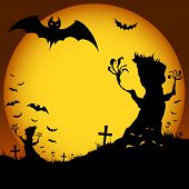 Halloween tree, demon, bat