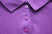Purple Violet Polo T-shirt With Buttoned Collar Neck. Casual Style Clothes, Vivid Bright Shirt Made  poster