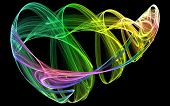 Colourful Smokey Swirling Object